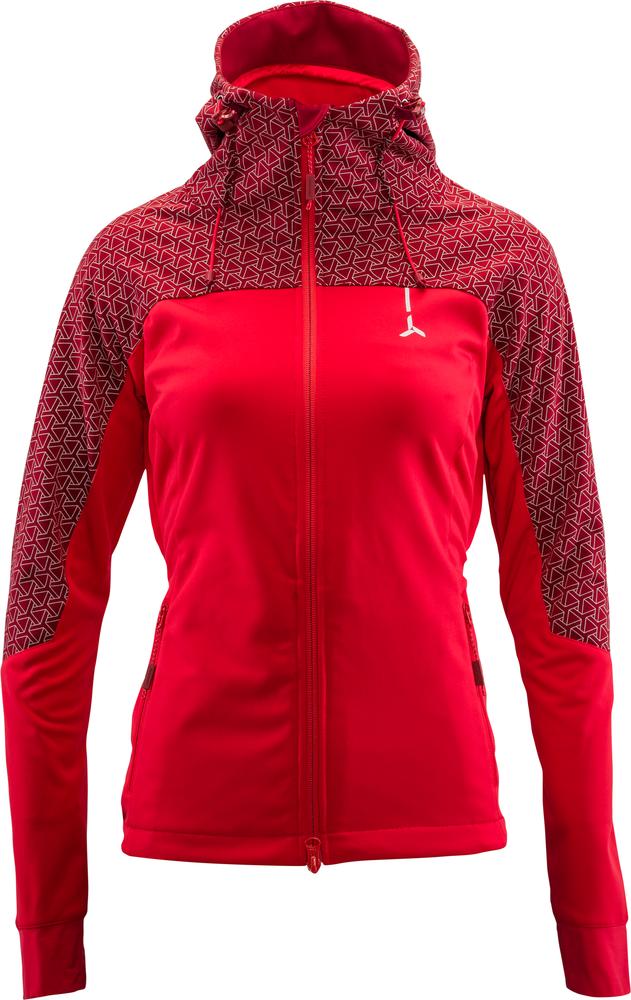 softshellová bunda dámská Lano red, merlot